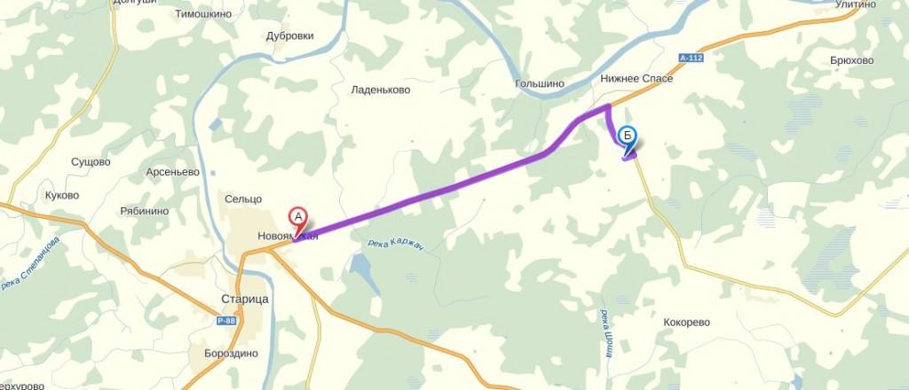 Схема проезда Храм